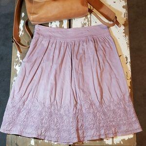 Merona Embroidered Peasant Midi Layered Skirt